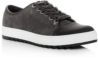 Karl Lagerfeld Paris Men's Suede Lace Up Sneakers