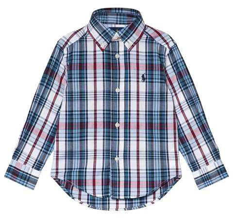 Blue Check Button Down Shirt with PP