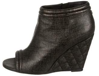Chanel Fantasy Wedge Booties
