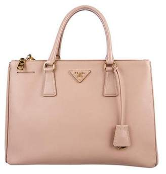 a37586a8a110d2 ... coupon code for pre owned at therealreal prada saffiano lux medium  double zip galleria tote 5952e ...