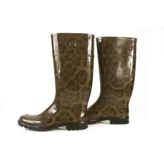 Dolce & Gabbana Brown Rubber Boots