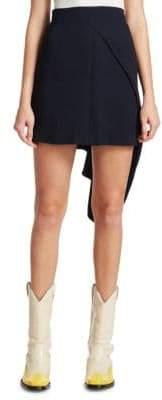 Calvin Klein Asymmetrical Draped Mini Skirt