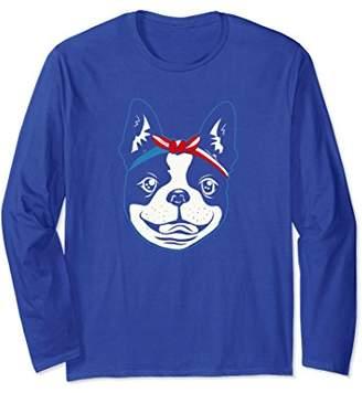 Boston Terrier Bandana 4 July Long Sleeve American Flag Dog