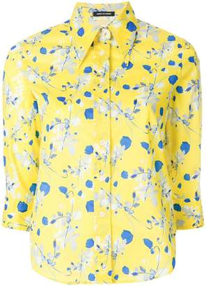 R 13 floral cropped sleeve shirt