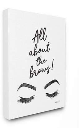 Secret Treasures The Stupell Home Decor Collection All About The Brows Ink Illustration Stretched Canvas Wall Art, 16 x 1.5 x 20