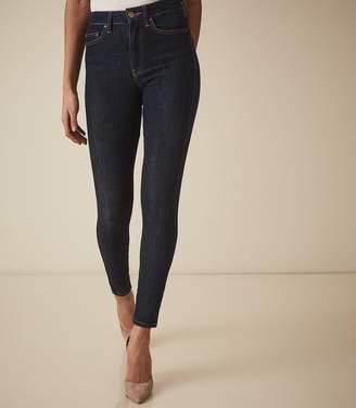 Reiss SKYE Bi-Stretch High Rise Skinny Jeans Mid Blue