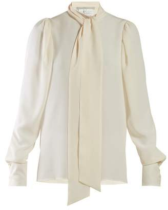 c56c7806bd1270 Stella McCartney Pussy Bow Georgette Blouse - Womens - Ivory