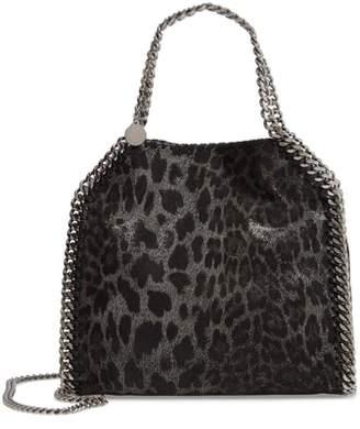 Stella McCartney Mini Falabella Leopard Print Faux Leather Tote