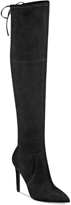 GUESS Women's Akera Over-The-Knee Boots $139 thestylecure.com