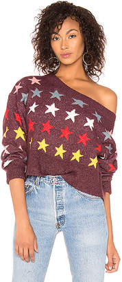 Wildfox Couture Rainbow Stars Sweater