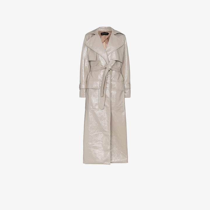 Michael Lo Sordo La patent trench coat