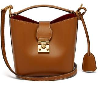 Mark Cross Murphy Mini Leather Bucket Bag - Womens - Beige
