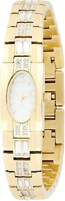 Elgin Women's EG713 Austrian Crystal Accented Gold-Tone Watch