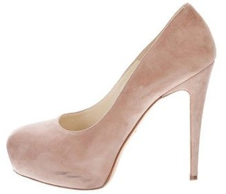 Brian Atwood Suede Leather Platform pumps $95 thestylecure.com