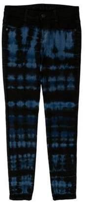 Stella McCartney Tie-Dye Ankle Grazer Jeans w/ Tags Black Tie-Dye Ankle Grazer Jeans w/ Tags