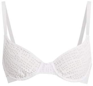 Negative Underwear - Essaouira Underwired Demi Cup Mesh Bra - Womens - White