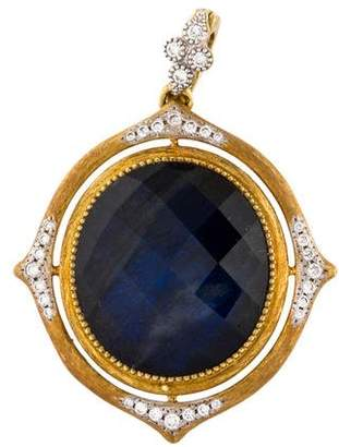 Jude Frances 18K Labradorite Doublet & Diamond Pendant