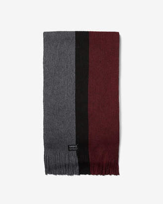 Express Vertical Stripe Merino Wool-Blend Scarf