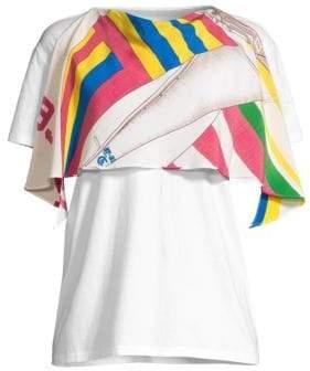 Polo Ralph Lauren Silk Scarf T-Shirt