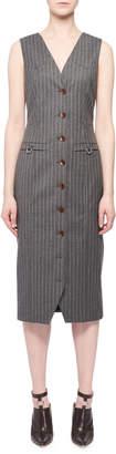 Altuzarra Wool-Blend Dress w/ Pinstripes