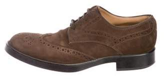 Tod's Suede Wingtip Brogues brown Suede Wingtip Brogues
