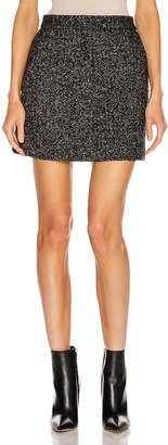 Tibi Multi Color Tweed High Waisted Mini Skirt in Black Multi | FWRD