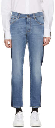 Dolce & Gabbana Blue Mid-Wash Jeans