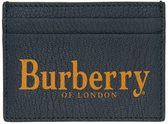 Burberry Blue Logo Sandon Card Holder
