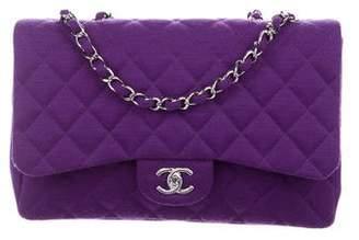 Chanel Jumbo Jersey Single Flap Bag