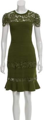 Valentino Crochet Accent Mini Dress