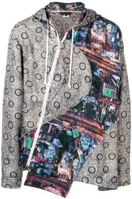 Comme des Garcons printed panel hooded jacket