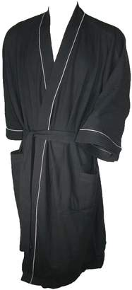 Majestic International Men's Big & Tall Cotton Waffle Knit Kimono Robe, LT/XLT