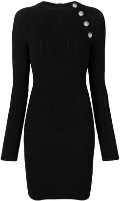 Balmain fitted button dress