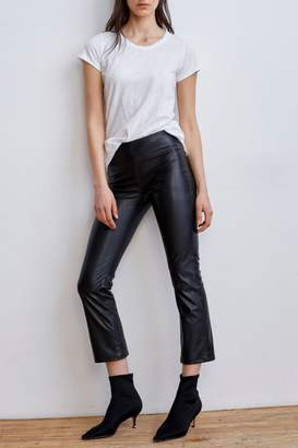 Velvet Faux Leather Leggings