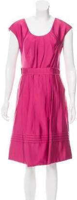 Lela Rose Silk Knee-Length Dress