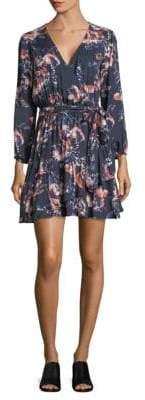 Splendid Long Sleeve Floral Wrap Dress