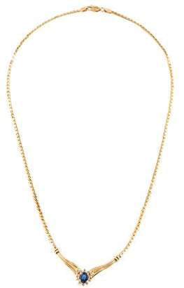 14K Sapphire & Diamond Choker Necklace