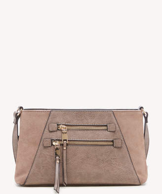 Sole Society Women's Chele Crossbody Bag Suede Mushroom Faux Leather From