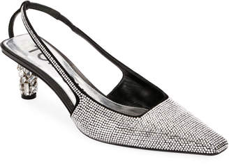 Tom Ford Crystal-Beaded Slingback Pumps