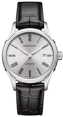 Hamilton Valiant Automatic Leather Strap Watch, 40mm