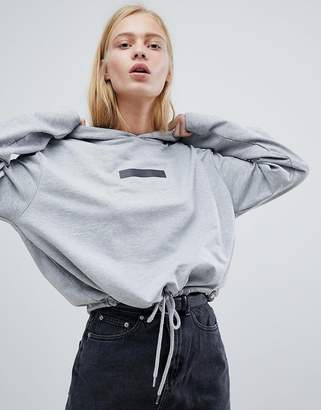 Dr. Denim Crop Hooded Top