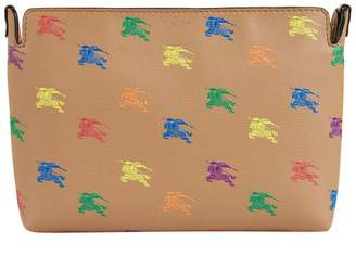 Burberry Leather Equestrian Knight Clutch Bag