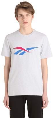 90s Print Cotton Jersey T-Shirt