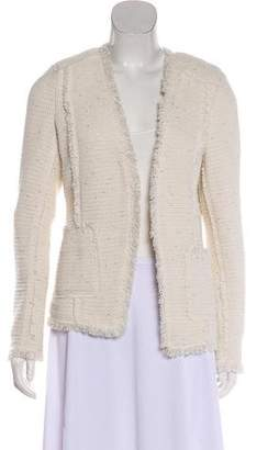 Rebecca Taylor Frayed Trim Tweed Jacket