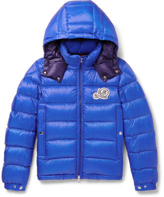 Moncler Bramant Quilted Shell Hooded Down Jacket - Men - Blue