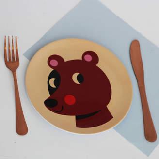 Posh Totty Designs Interiors Retro Bear Melamine Plate
