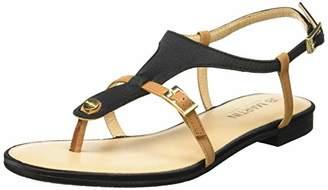 JB Martin Women's 2gaelia E19 Ankle Strap Sandals, Black (T Satin Vert Florida Colonia Noir)