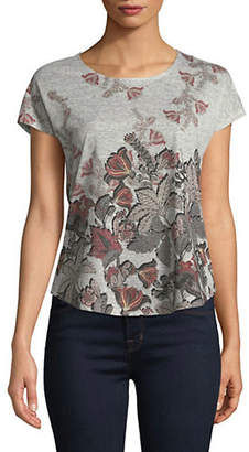 Style And Co. Petite Floral Short-Sleeve Top