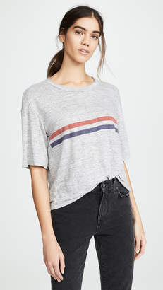Stateside Printed Linen Jersey Tee