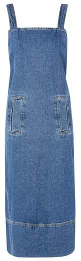 Denim Pinafore Wrap Dress